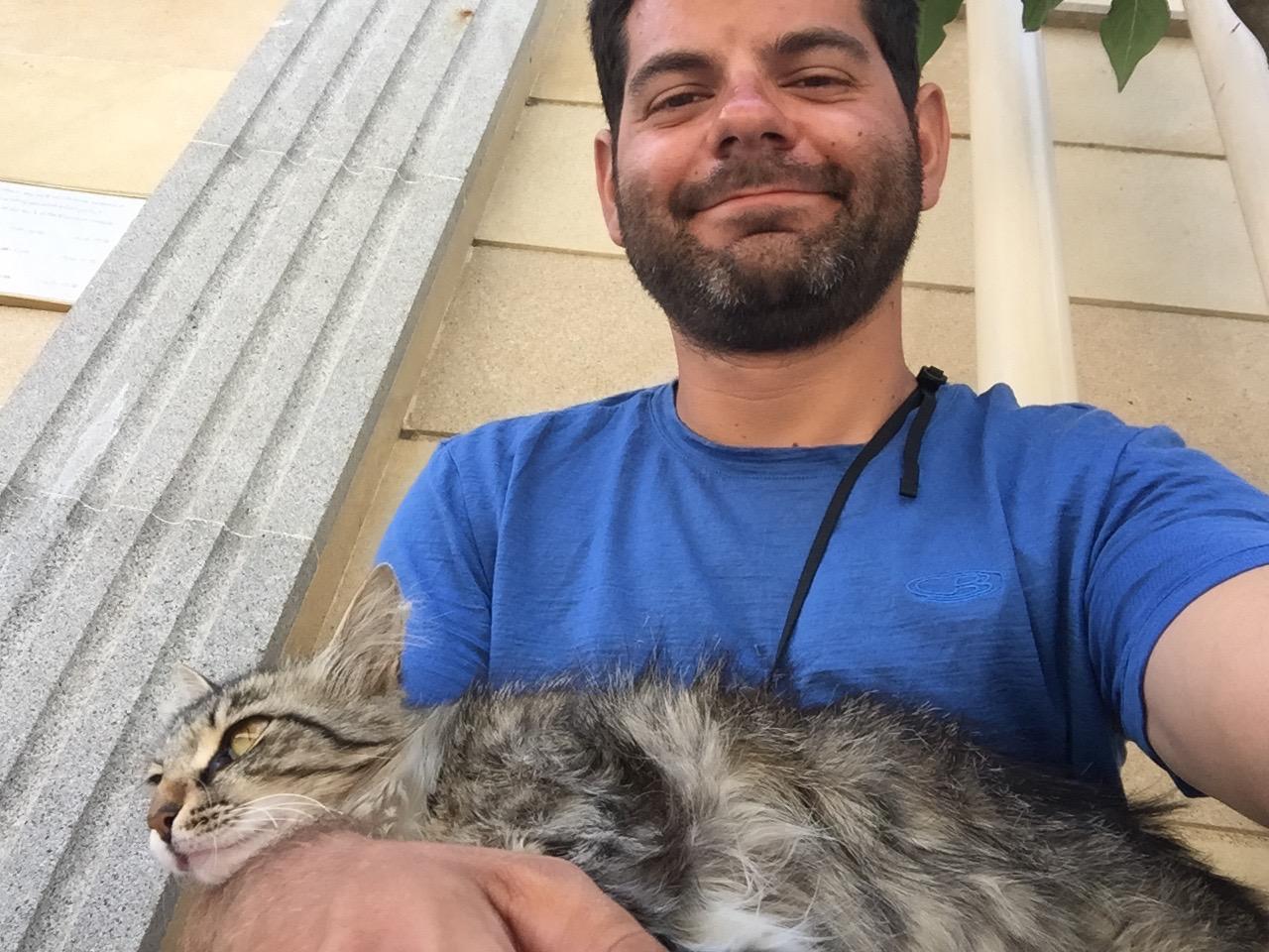 Le chat était beaucoup plus colleux que les soldats.