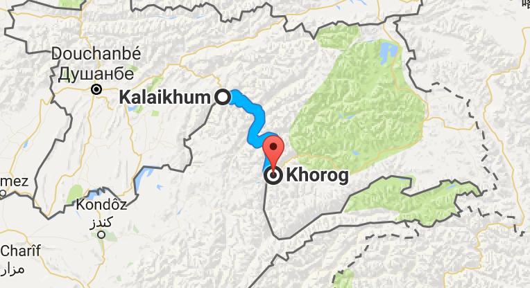 Un confortable 250 km à suivre la rivière et à longer l'Afghanistan.
