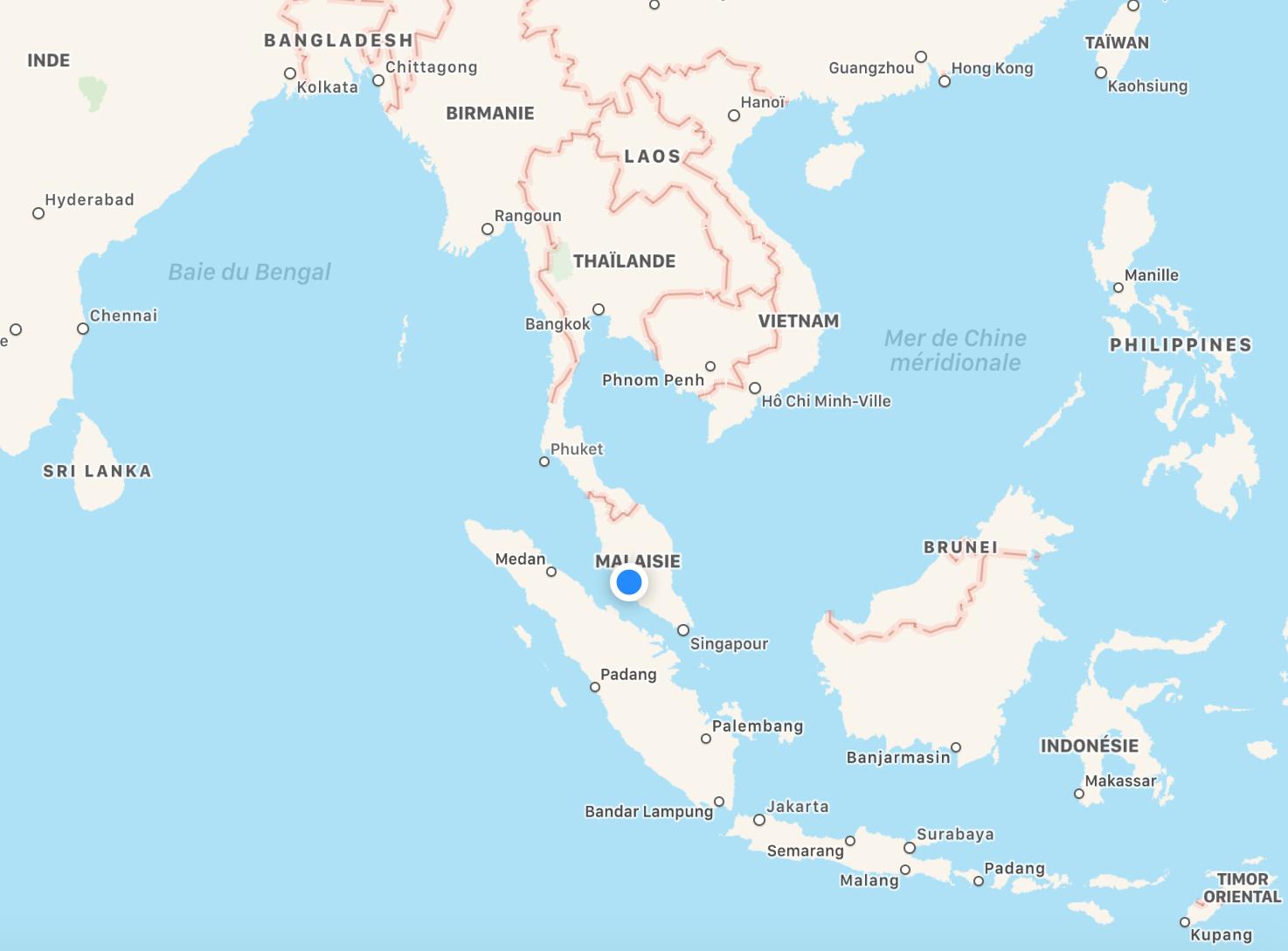 Emplacement de Kuala Lumpur.