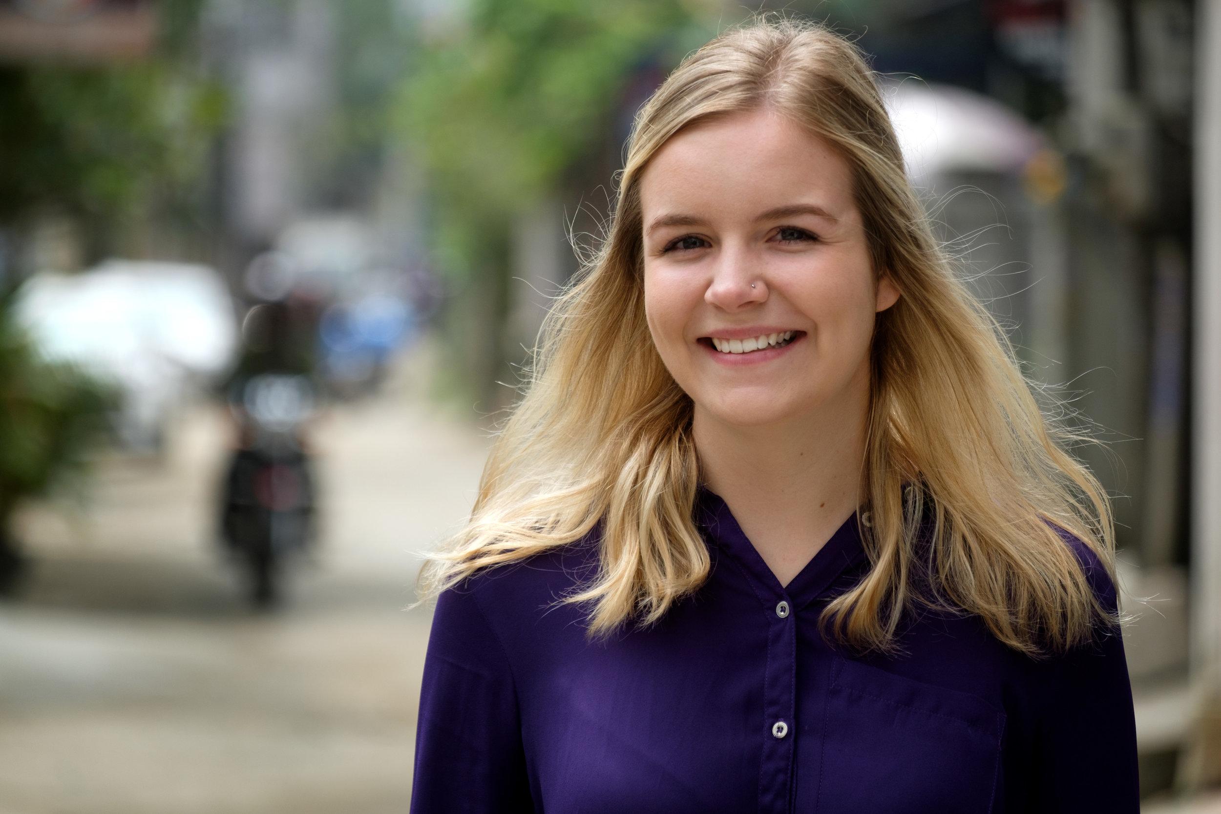 Allison McDonald, à Hué au Vietnam.