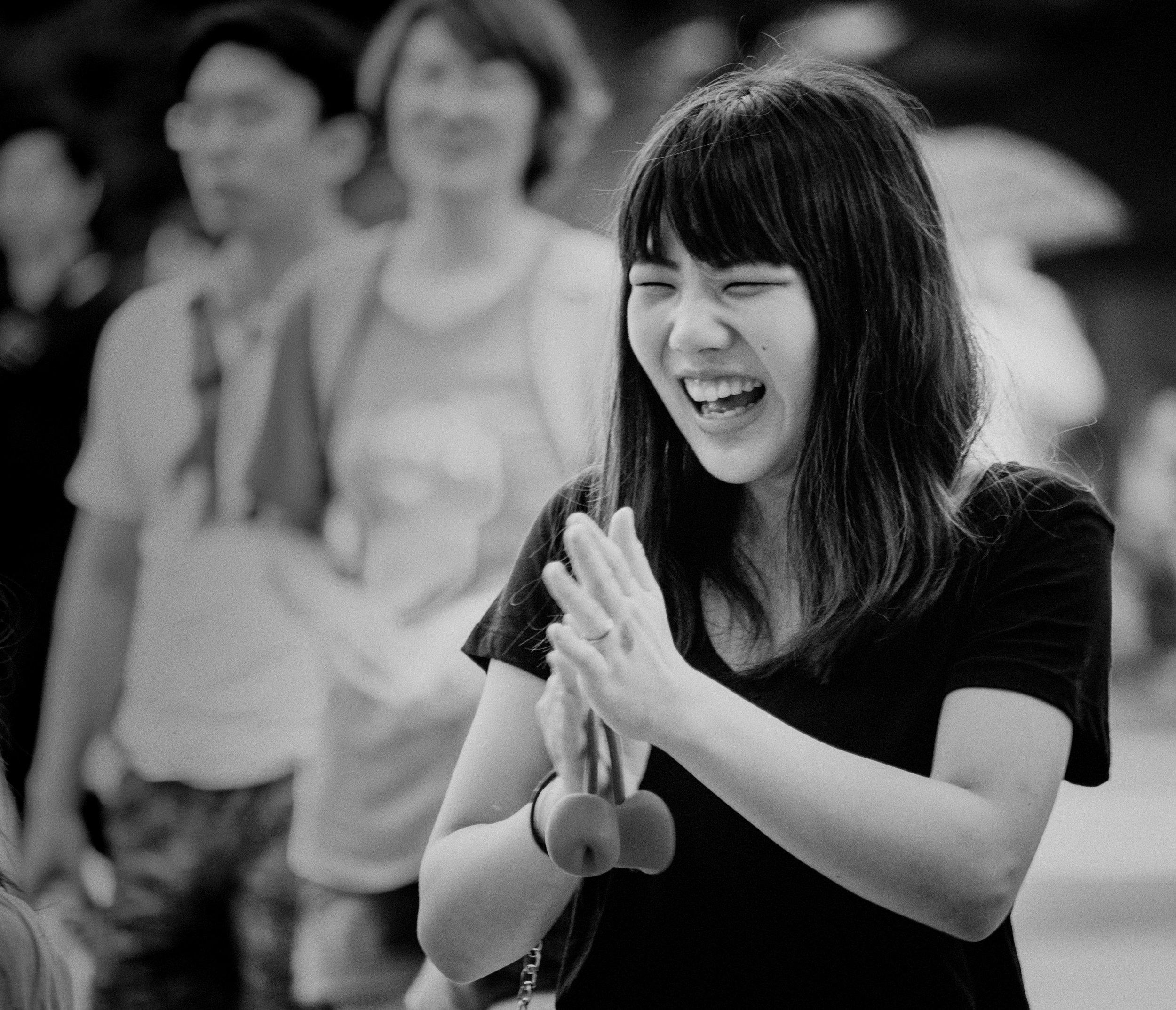 Japonaise enthousiaste.