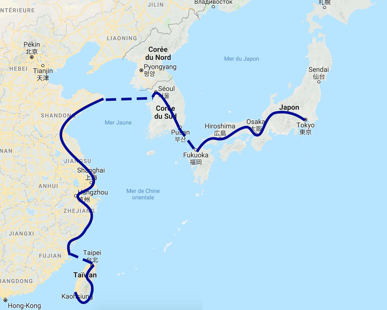 Après Singapour, je compte rouler à Taïwan, en Chine, en Corée puis au Japon.