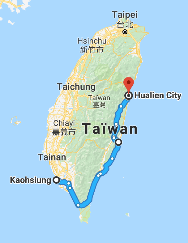 Un premier 350 km sur la belle île asiatique.