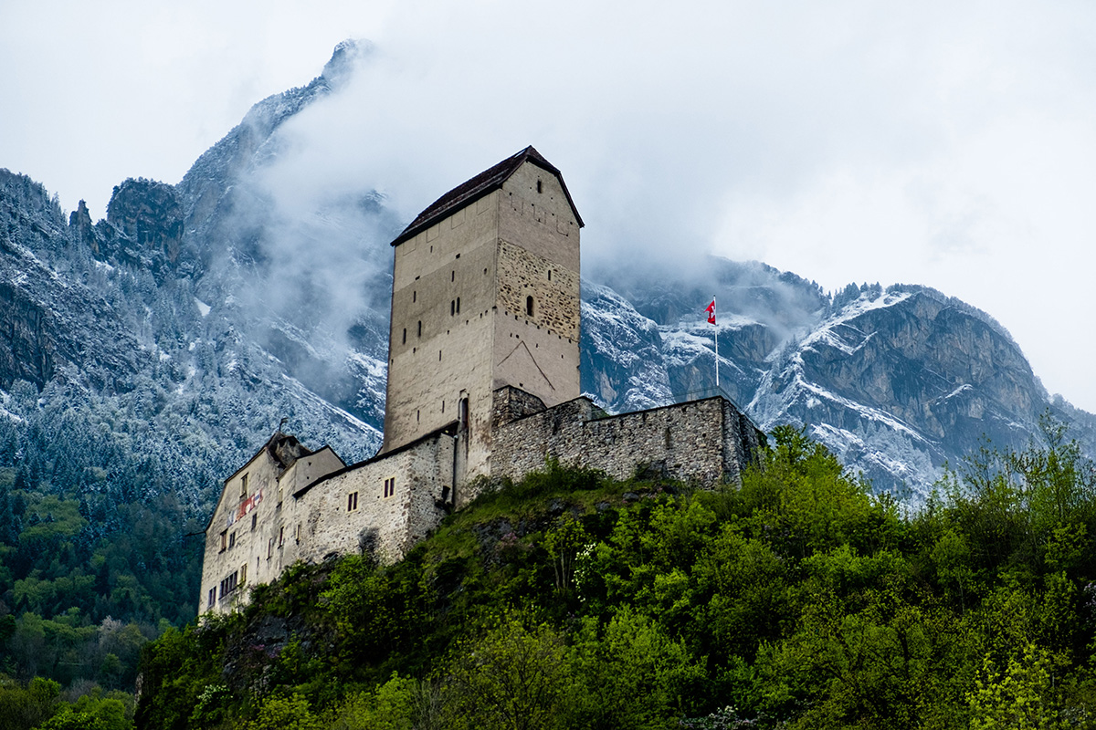 Le château de Sargans, en Suisse.