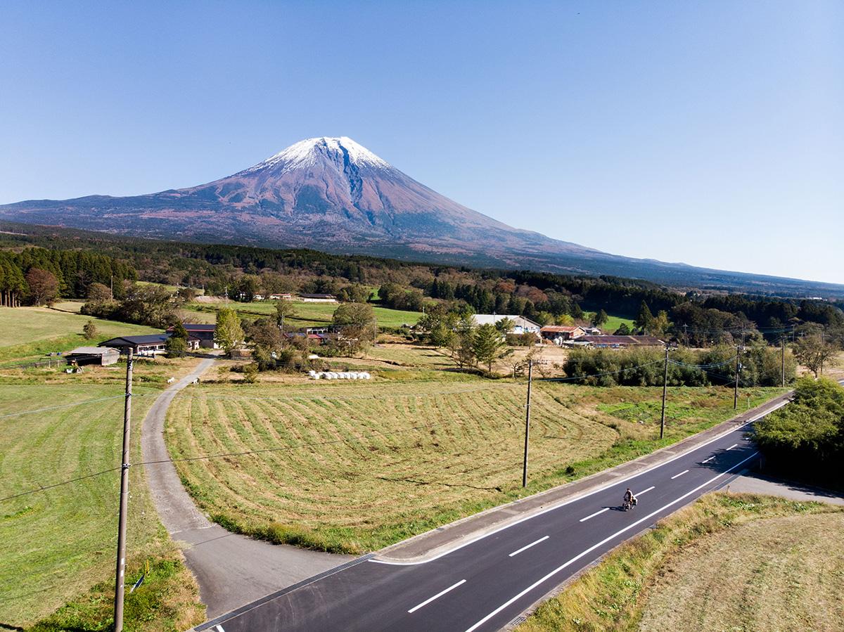Toute la journée, le mont Fuji fait partie du paysage.