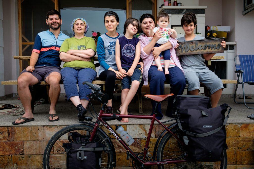 Une famille turque qui m'a accueilli à bras ouverts.