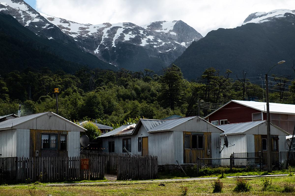 Quelques maisons du village montagnard de Villa Amengual.