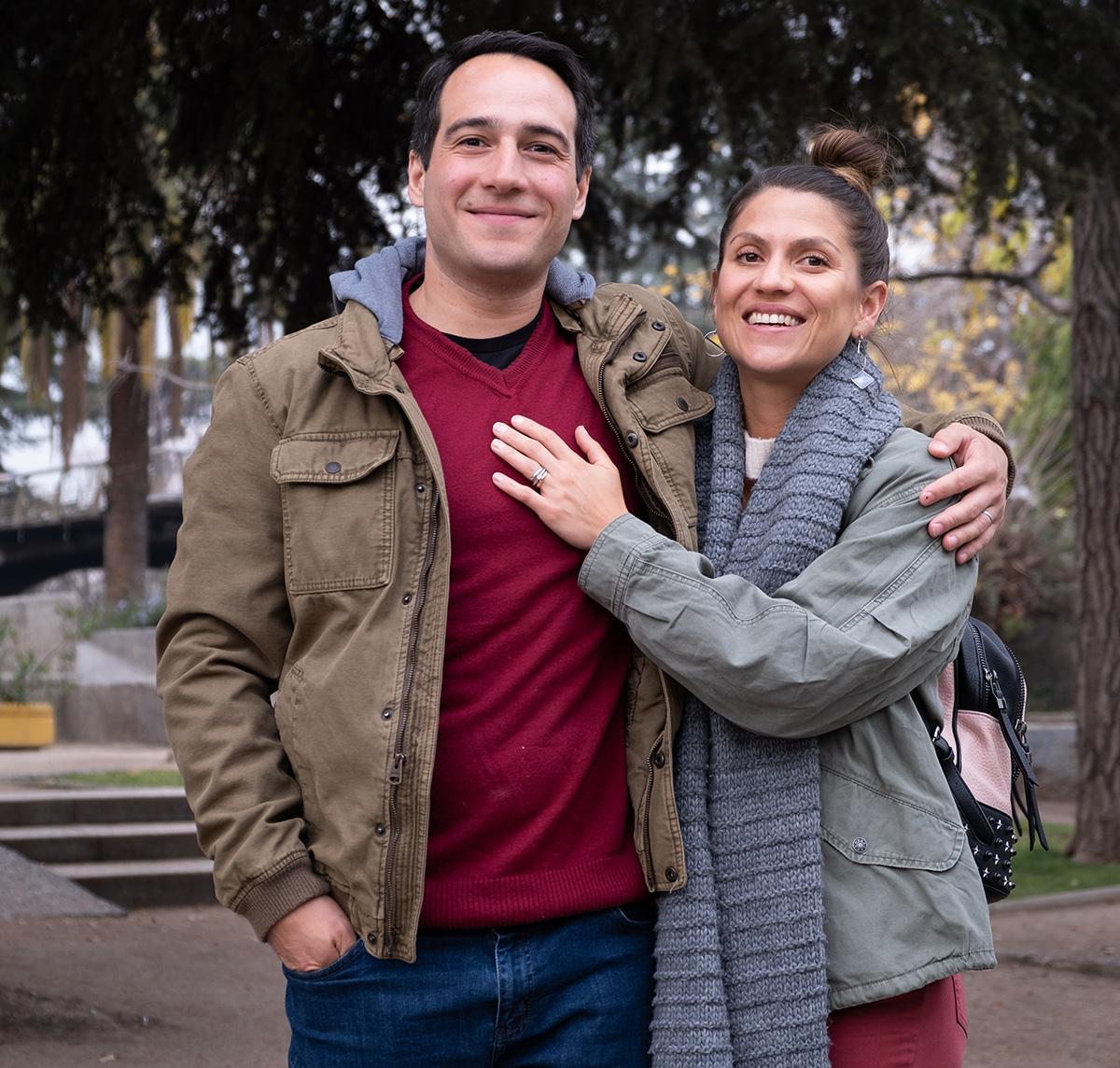 Mes amis chiliens Francisco et Daniela, qui m'ont hébergé plusieurs semaines au total à Santiago.