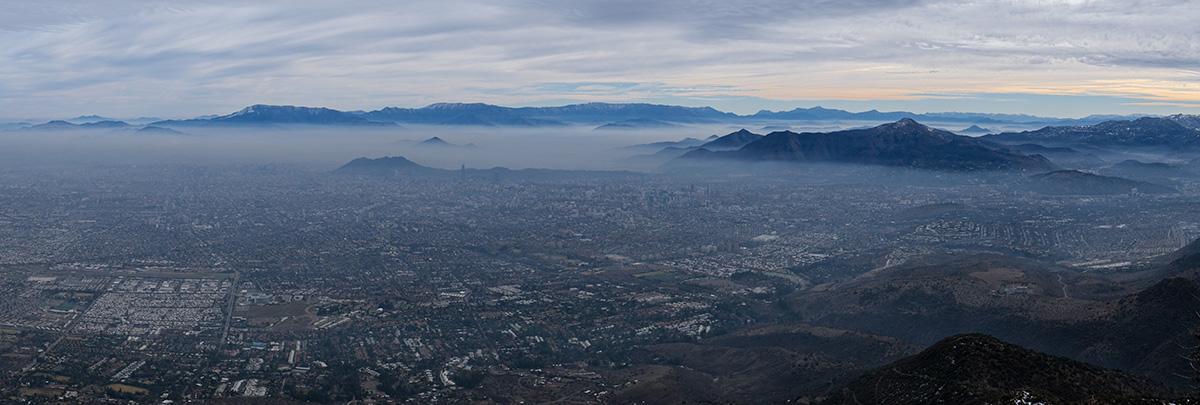 Smog permanent sur la ville.