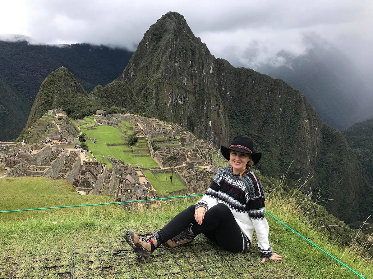 Sarah-Émilie au Machu Picchu, Pérou.