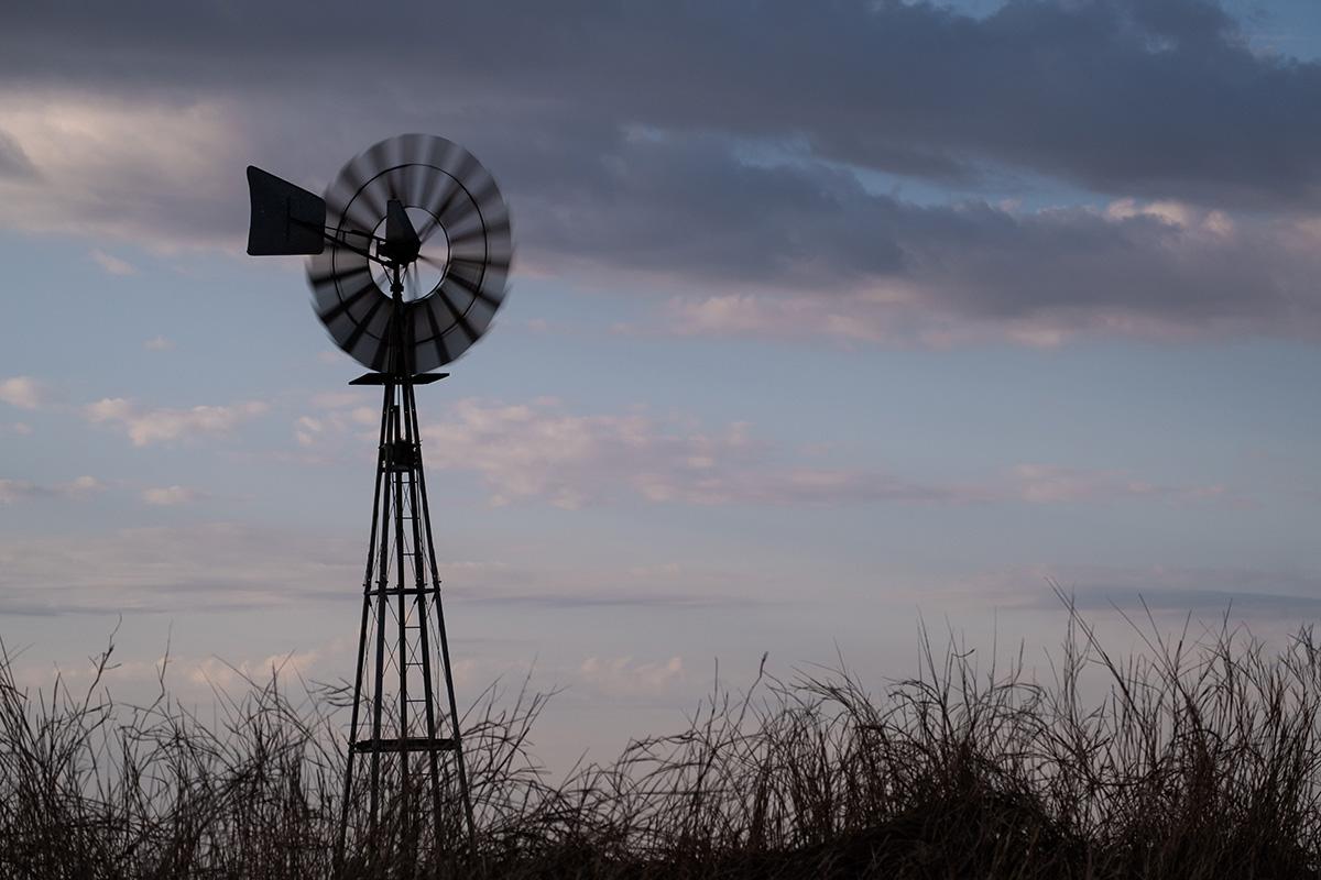La route se poursuit à travers la grande Argentine agricole.