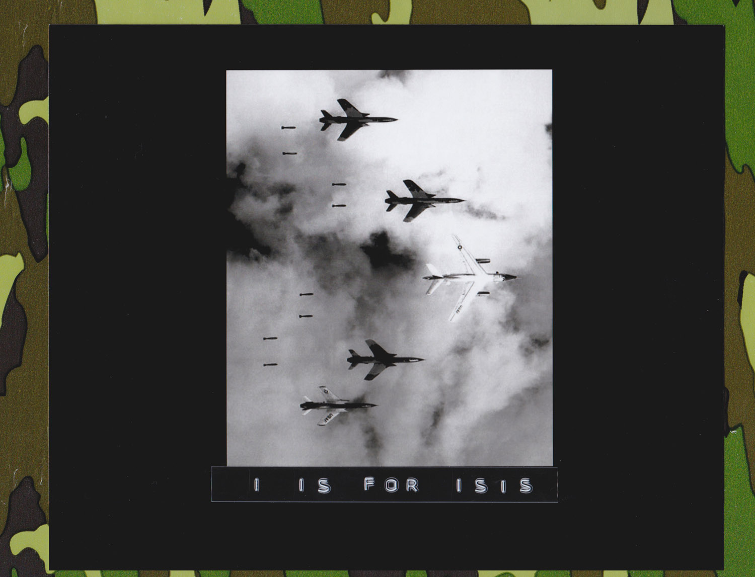 Flying under radar control with a B-66 Destroyer, Air Force F-105 Thunderchief pilots bomb a military target through low clouds over the southern panhandle of North Viet Nam. June 14, 1966. (Author Lt. Col. Cecil J. Poss, 20th TRS on RF-101C, USAF. Source: U.S. Defense Imagery)