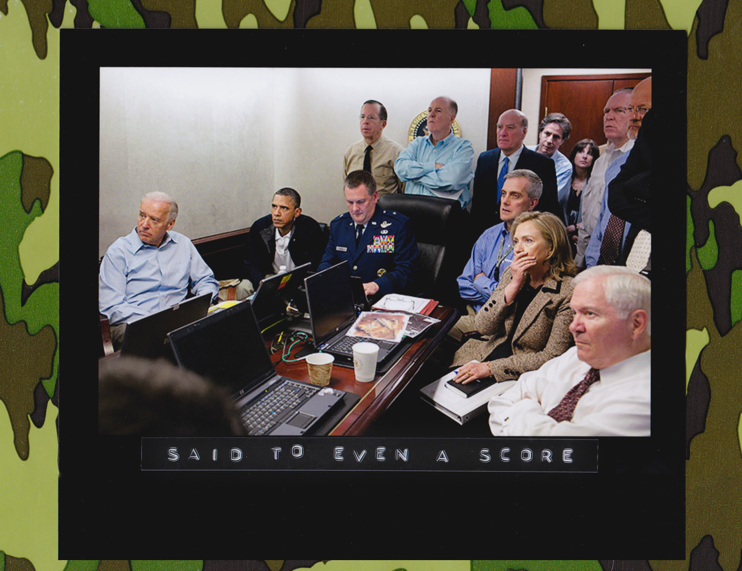 1 May 2011: U.S. President Barack Obama and his security team watch the Osama Bin Laden mission unfold while sitting in the White House Situation Room, thousands of miles away from the al-Qaeda leader's compound in Abbottabad, Pakistan. The 'real time' pictures were reportedly relayed to the White House via a video camera fixed to the helmet of a U.S. Navy Seal. (Photo: Pete Souza/White House)