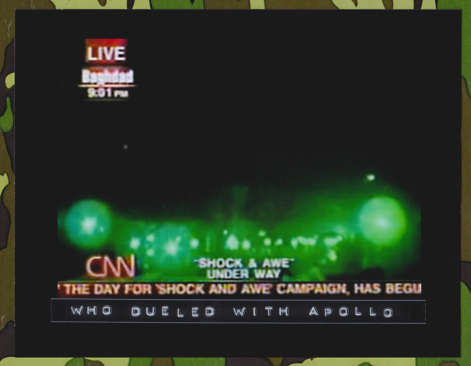 """CNN reports on the beginning of the Iraq War, or """"Operation Iraqi Freedom"""", March 19, 2003."""