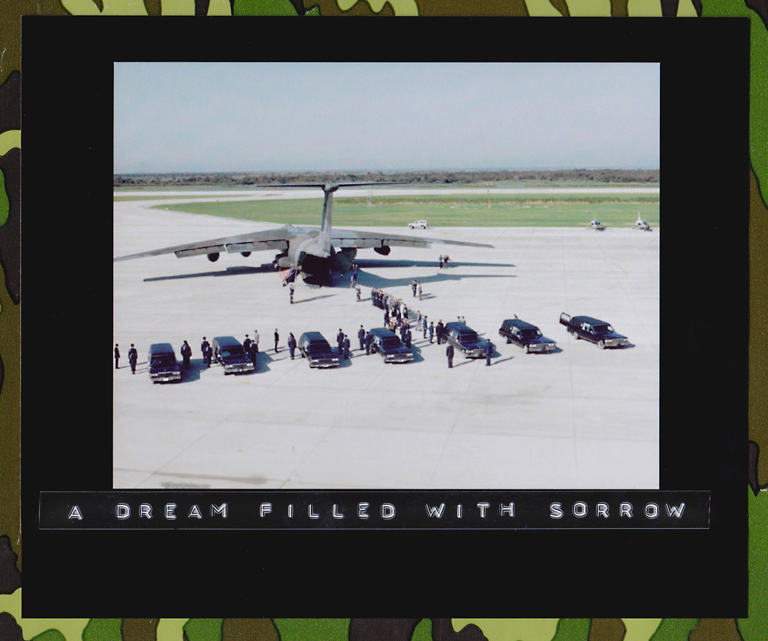 The Space Shuttle Challenger crewmember remains are transferred from 7 hearse vehicles to a MAC C-141 transport plane at the Kennedy Space Center's Shuttle Landing Facility for transport to Dover Air Force Base, Delaware. The STS-51L crew consisted of: Pilot, Mike Smith; Commander, Dick Scobee; Mission Specialist, Ron McNair; Mission Specialist, Ellison S. Onizuka; Payload Specialist, Greg Jarvis; Mission Specialist, Judy Resnik; and Teacher in Space Participant Sharon Christa McAuliffe. 30 August 1988.(Source: NASA JSC Digital Image Collection)