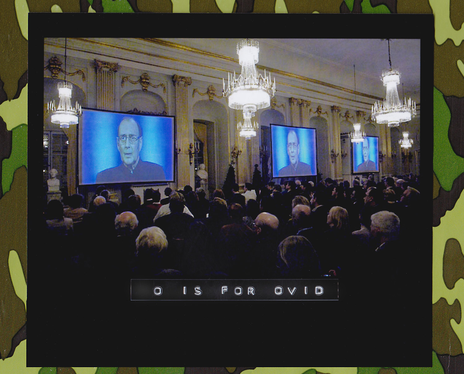 """""""Art, Truth and Politics"""", Nobel Lecture by Harold Pinter, recipient of the Nobel Prize in Literature 2005. His lecture, pre-recorded in a More 4 studio (Sun., 4 Dec. 2005), was shown on video at the Swedish Academy, in Börssalen, Stockholm, on Wednesday, 7 Dec. 2005. (Photo: Janerik Henriksson/European Pressphoto Agency)"""