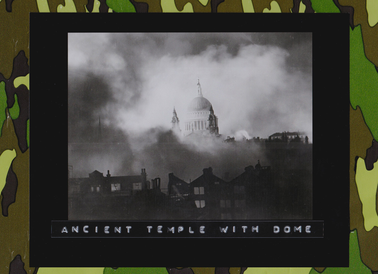 St. Paul's Cathedral photographed through the flames and smoke of surrounding buildings during the great fire raid of Sunday December 29, 1940, the 114th night of the Blitz, London. (Photo: Herbert Mason)