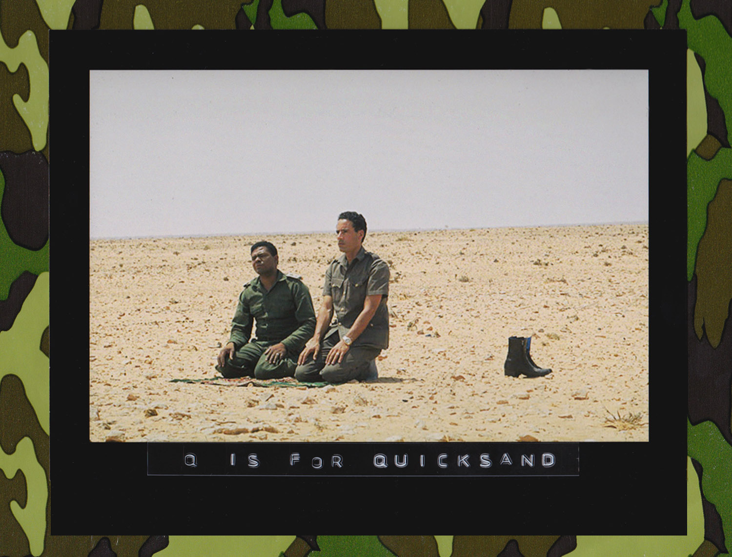 Col. Muammar Gaddafi and Major-General Abu-Bakr Yunis Jaber pray in the Libyan desert near Surt, August 1973, during the early days of the Al-Fateh Revolution in Libya. (Photographer Unknown)