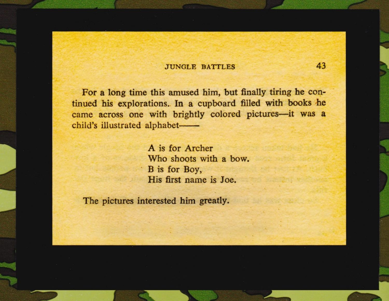 "Excerpt from  Tarzan of the Apes (Chapter 6, ""Jungle Battles"").Author: Edgar Rice Burroughs, 1912. (©Edgar Rice Burroughs, Inc.)"