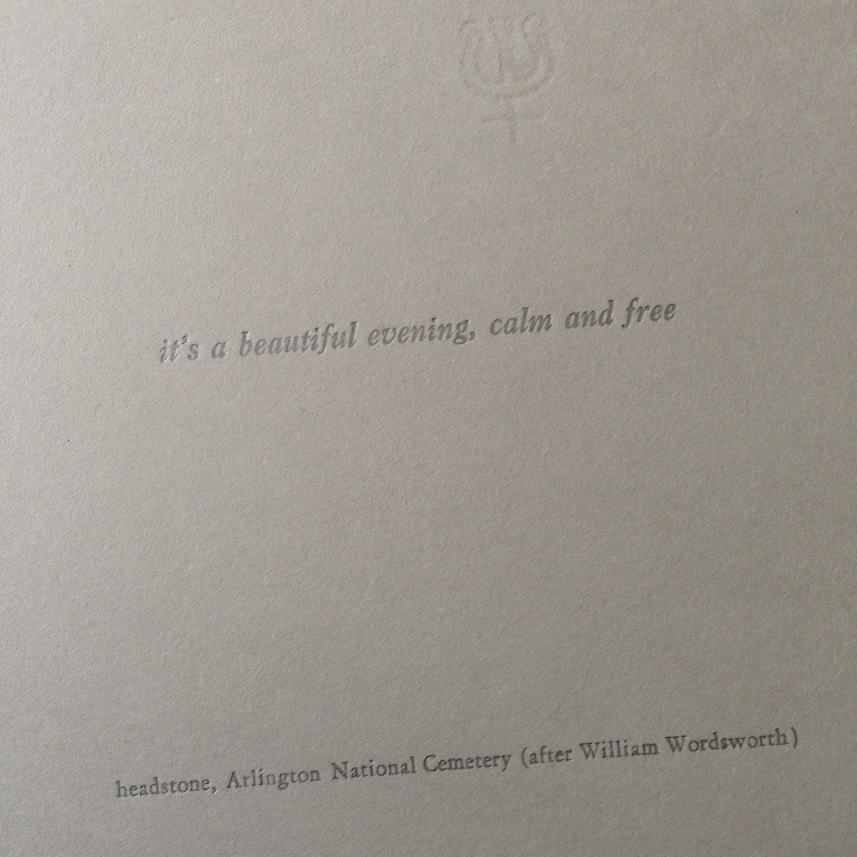 wordsworth at arlington, detail