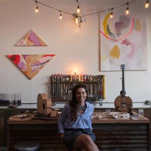 Anna Sofia Amezcua at M.Walker Guitars
