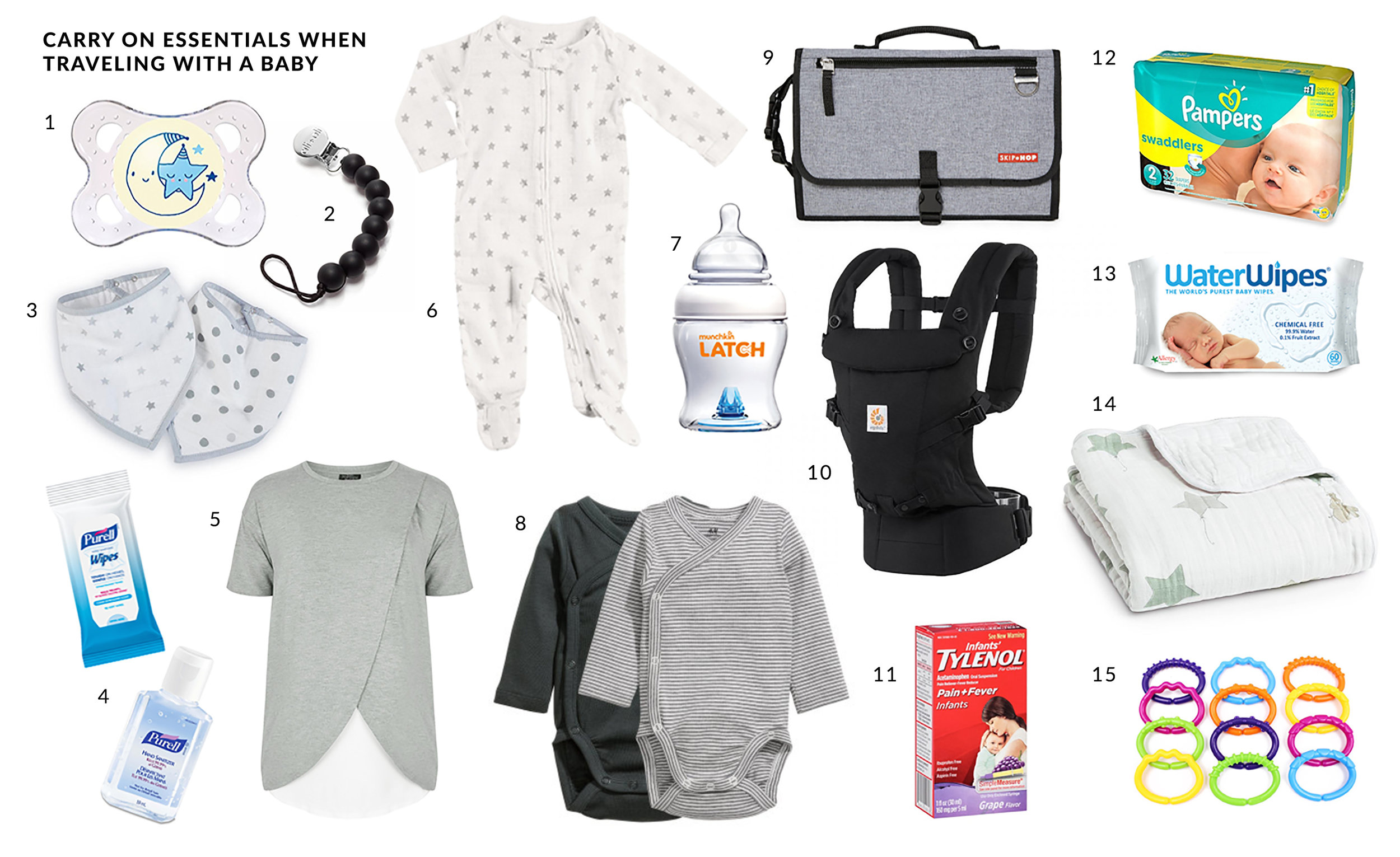 baby carry on packing list