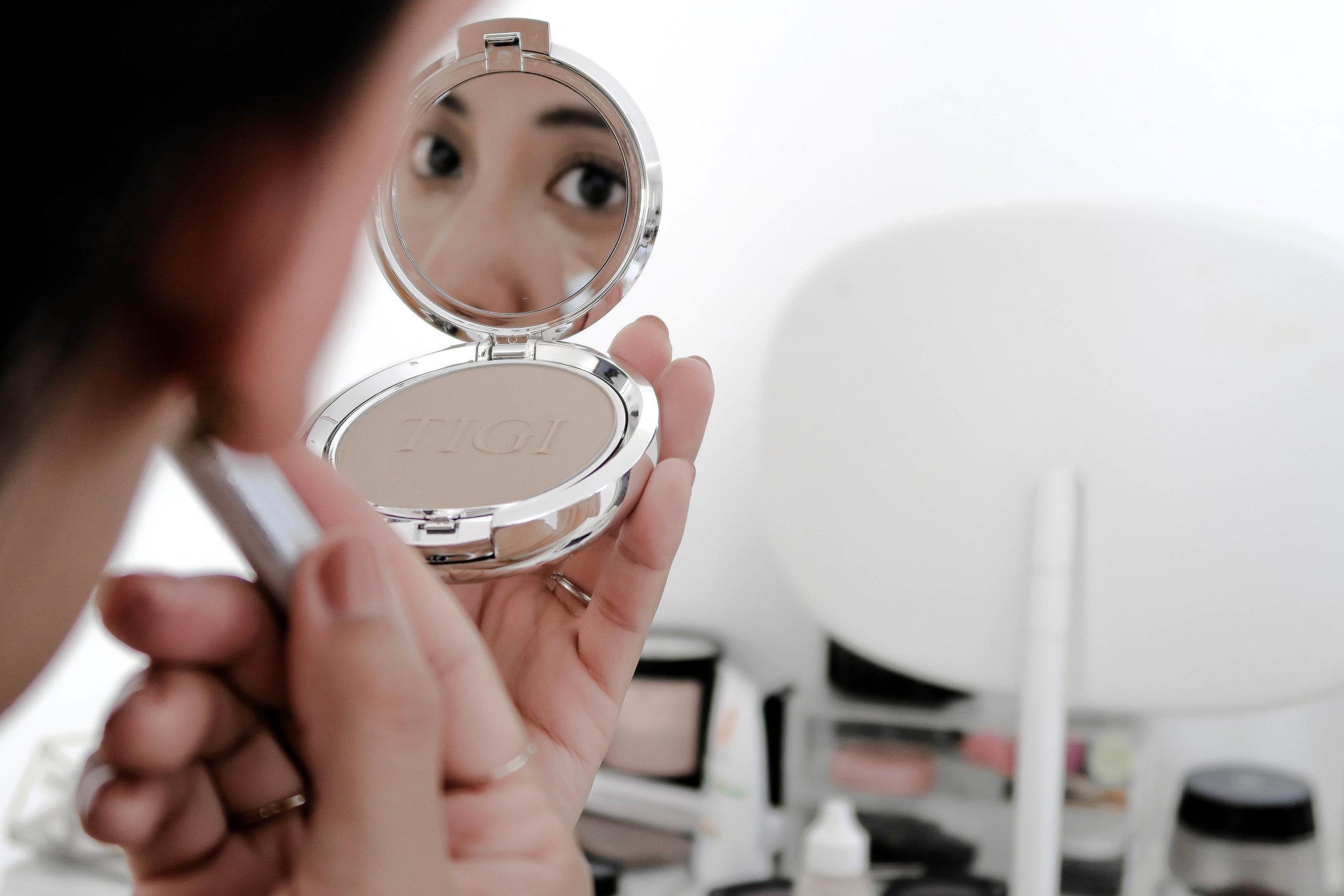 TIGI makeup application