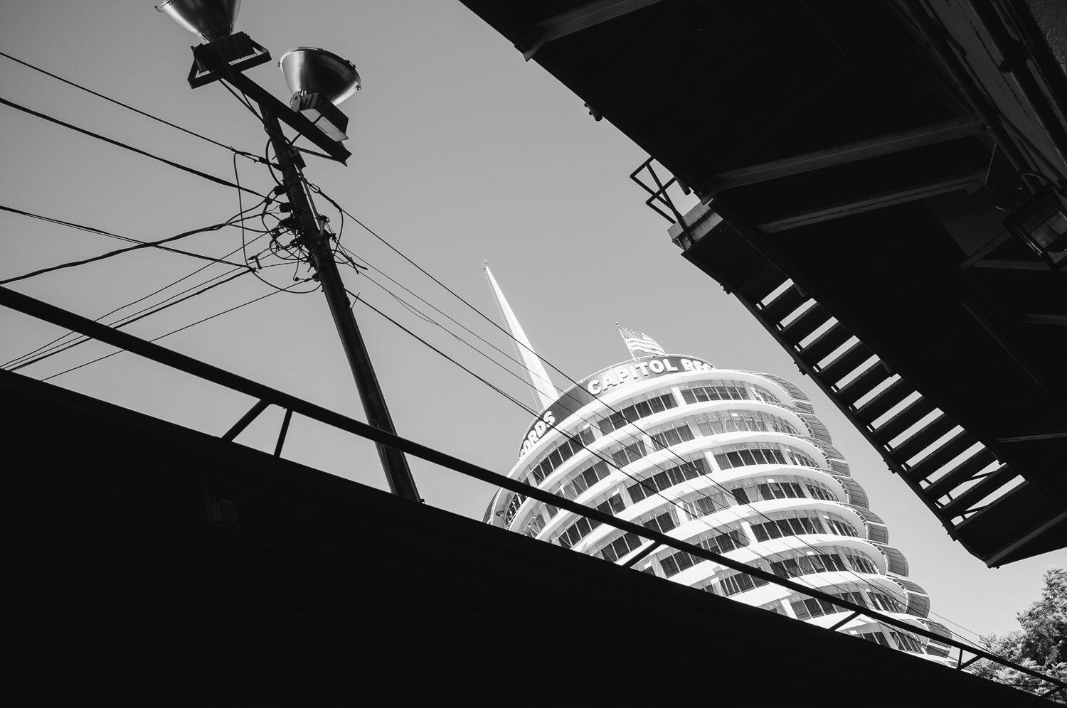 Iconic Capitol Records building.