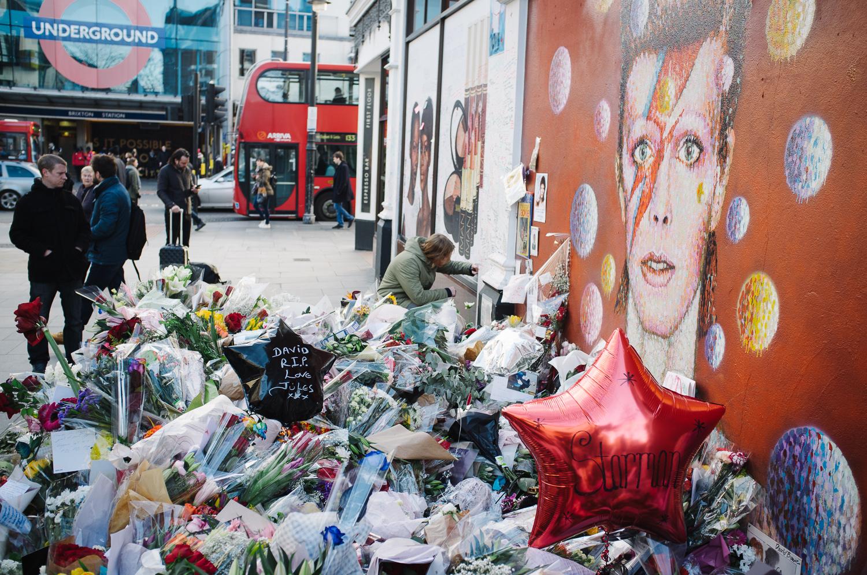 Brixton memorial near Brixton Tube station on a freezing Friday morning