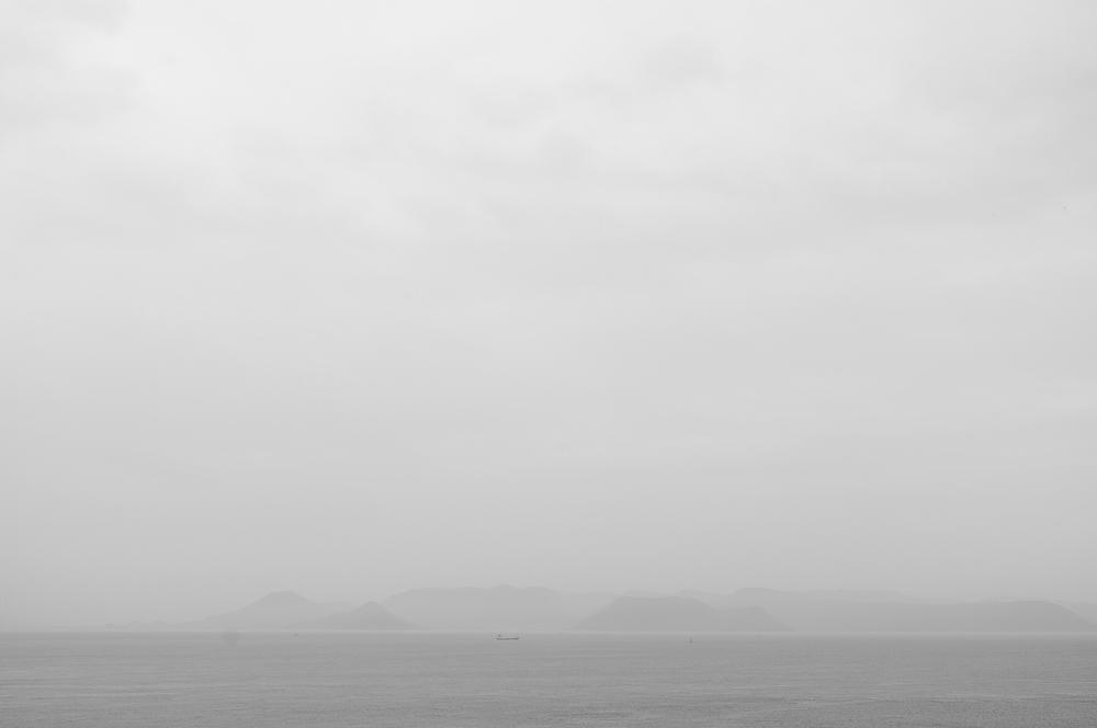 A misty return from the island back to Takamatsu