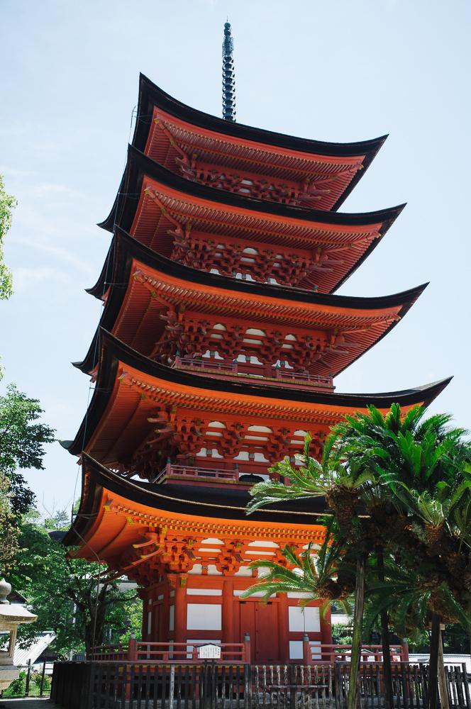 Pagoda, just outside the temple complex at Miyajima.