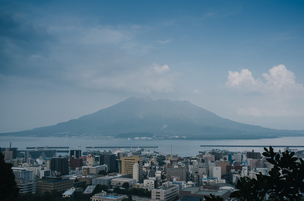 Sakurajima and the proximity to Kagoshima -last year it 'erupted' (read: farted out gas) over 700 times!