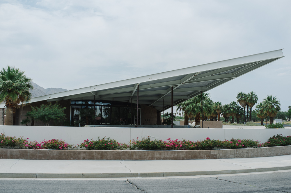 The Albert Frey-designed Tramway Gas Station, now a tourist office