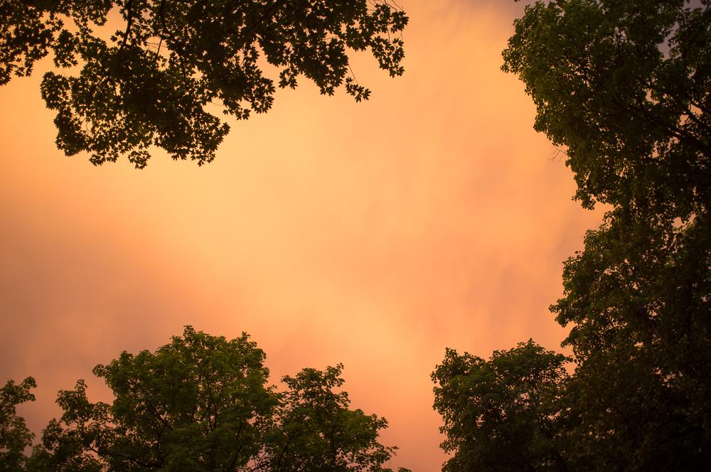 Firey sky over Ephraim, Door County