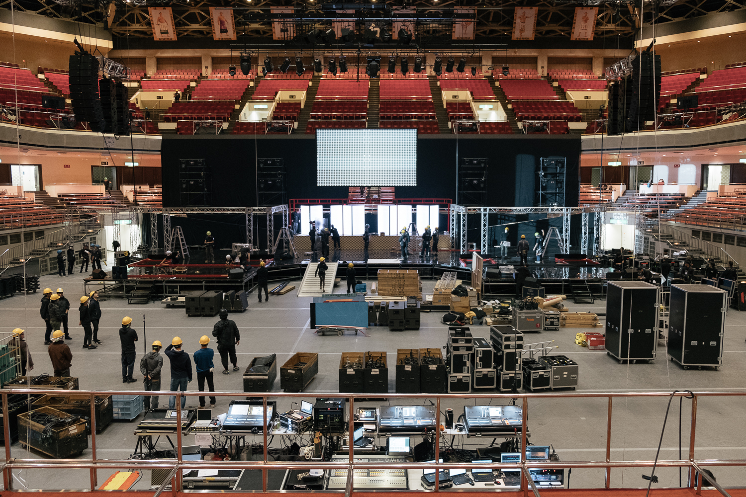 Mid way through building the stage , Japan Classic Rock Awards