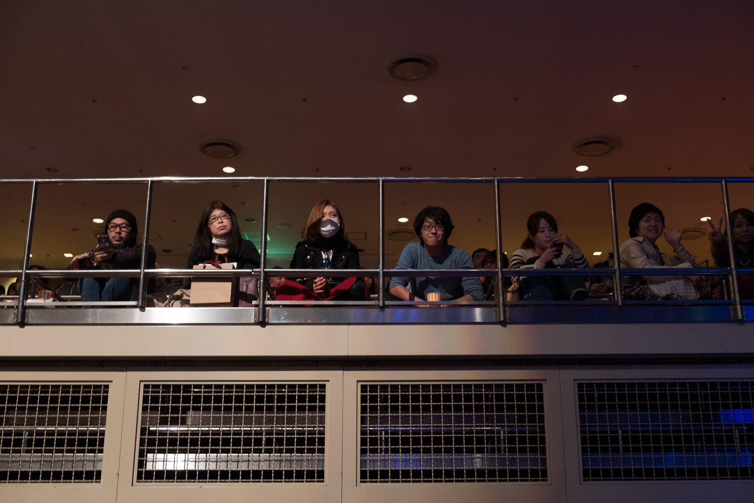 The crowd in the sitting (as in on the floor) section of the national sumo arena, , Japan Classic Rock Awards