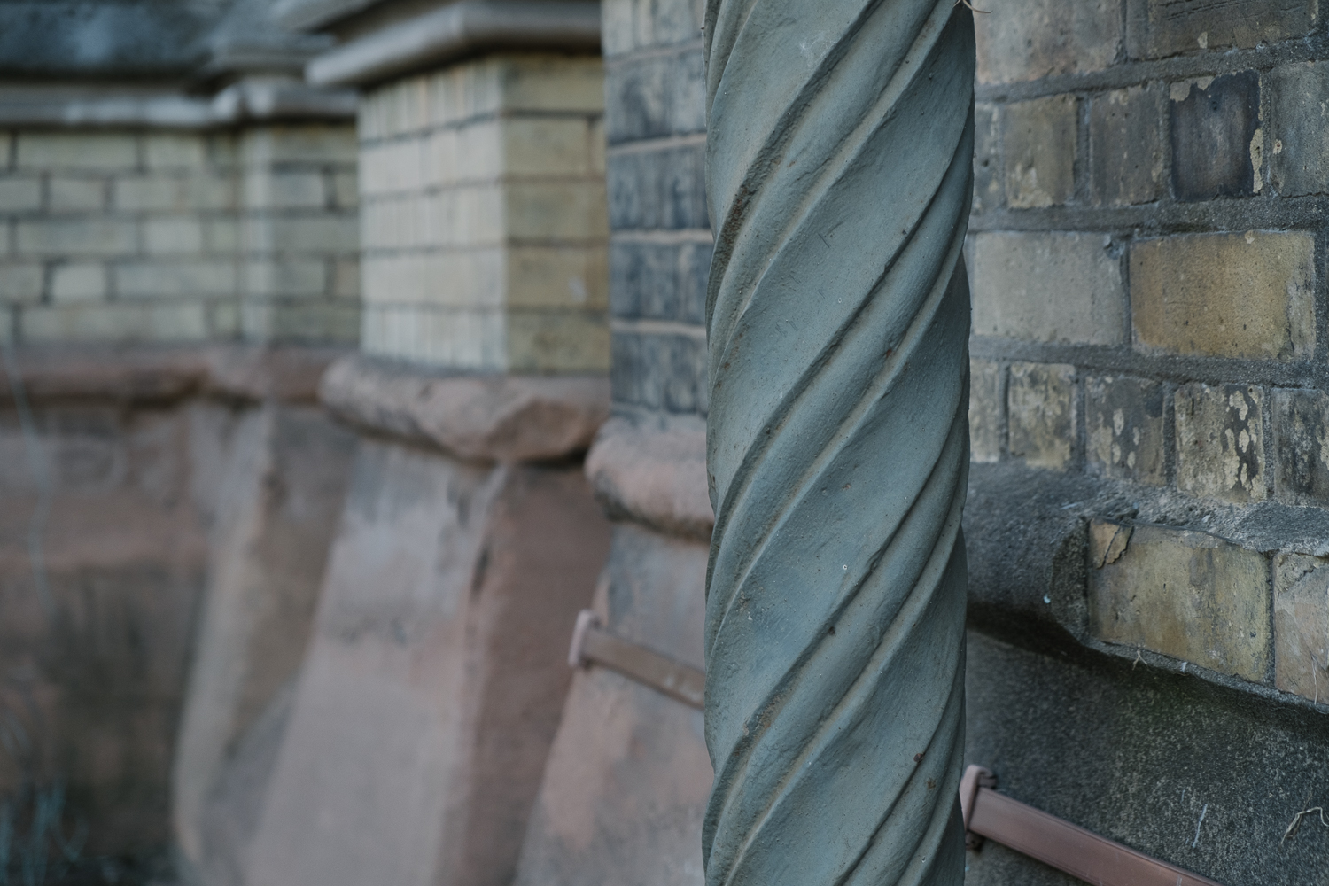 Bespoke 'twisted' drain pipe, the moulds are still in the possession of Thames Water