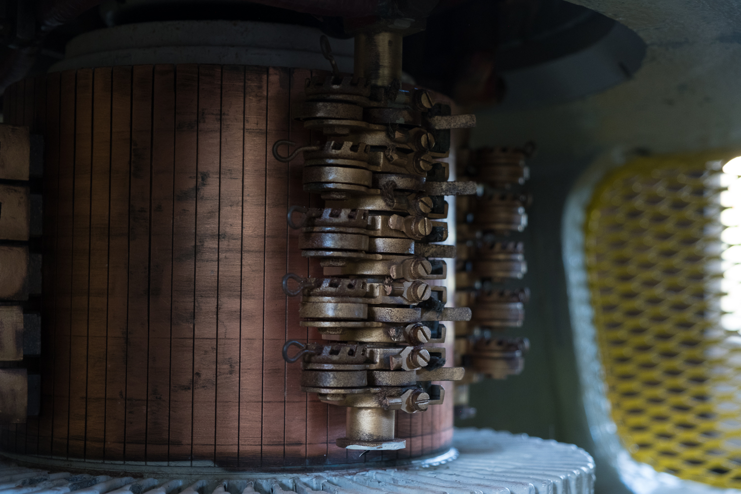 A rare look, inside one of the giant Daleks, a cyber punks dream