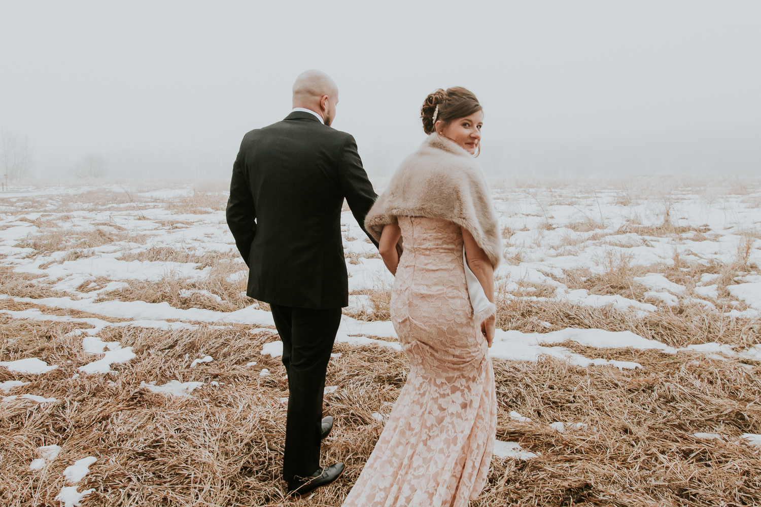 Foggy Romantic Calgary wedding