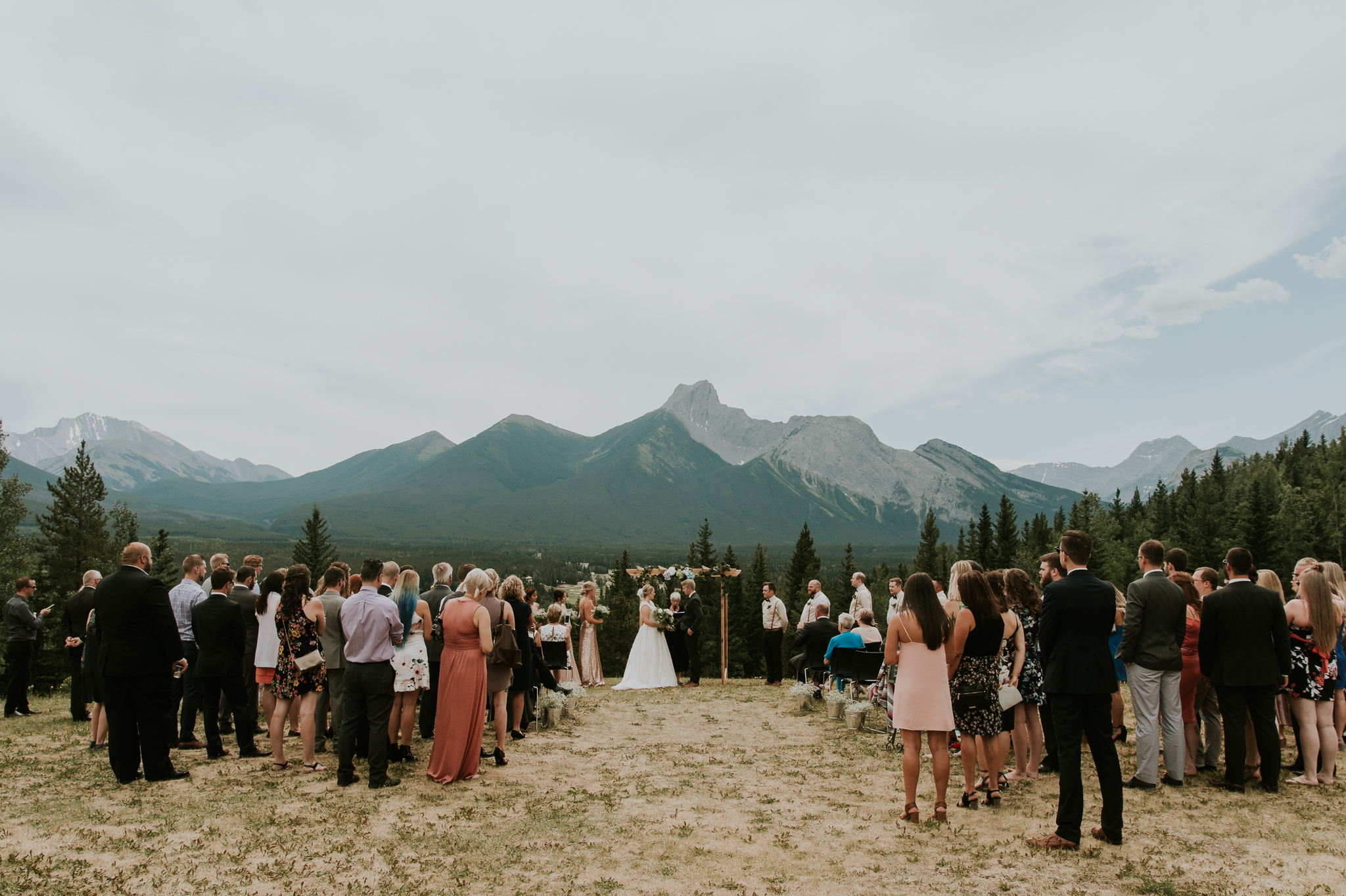 Ceremony view overlooking Alberta Rocky mountains at Delta Kananaskis