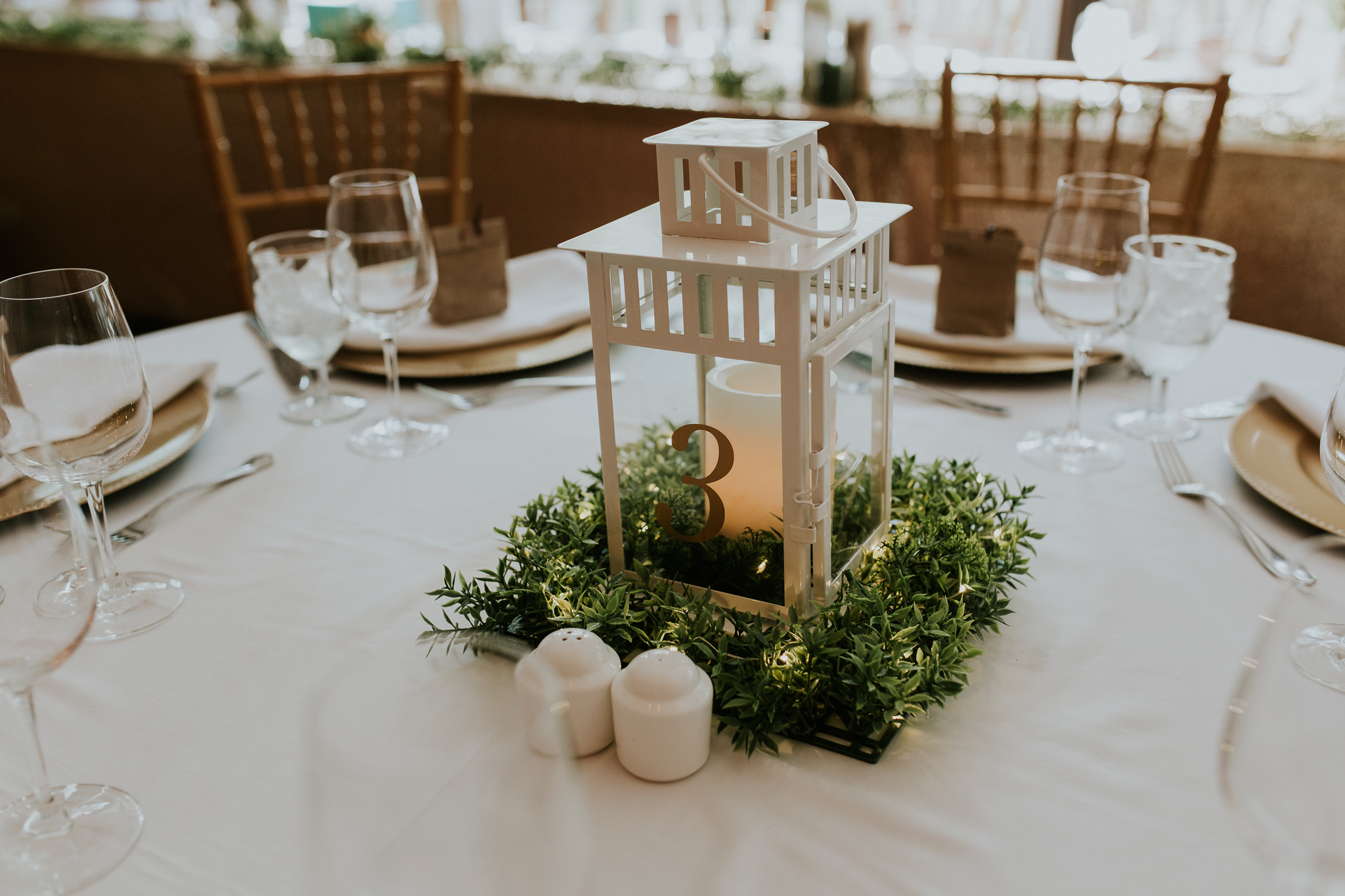 DIY table settings at Delta Kananaskis wedding