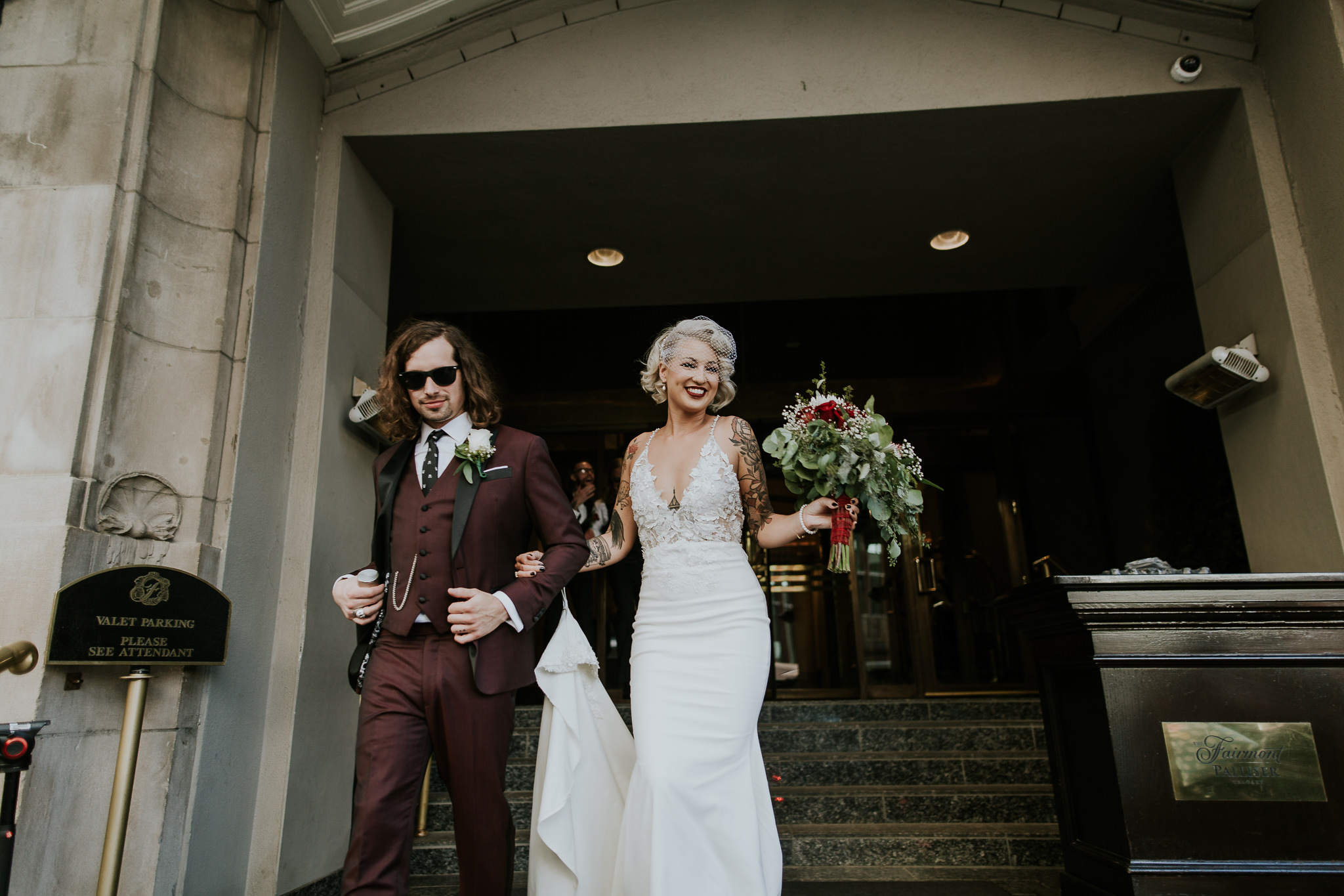 Vintage glam and rockstar wedding vibes at Last Best Calgary wedding