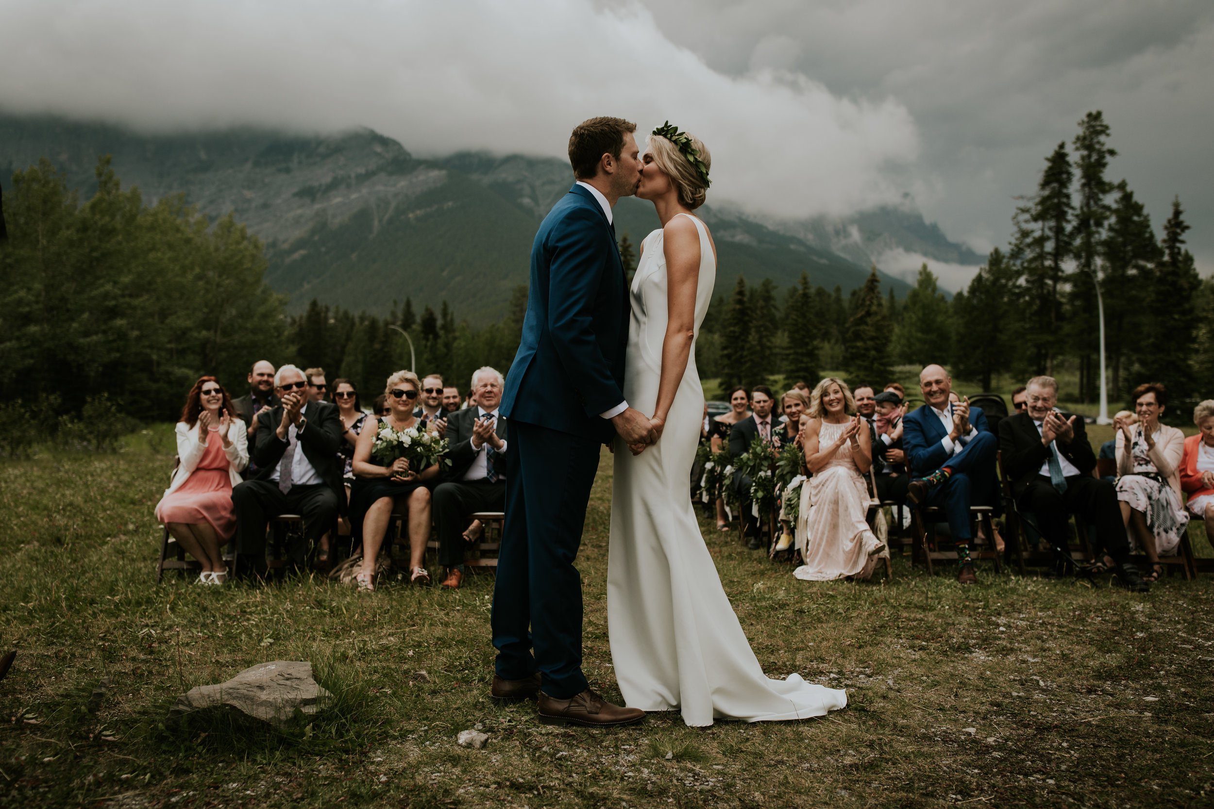 Intimate Canmore wedding at Rundleview Parkette near Banff Alberta