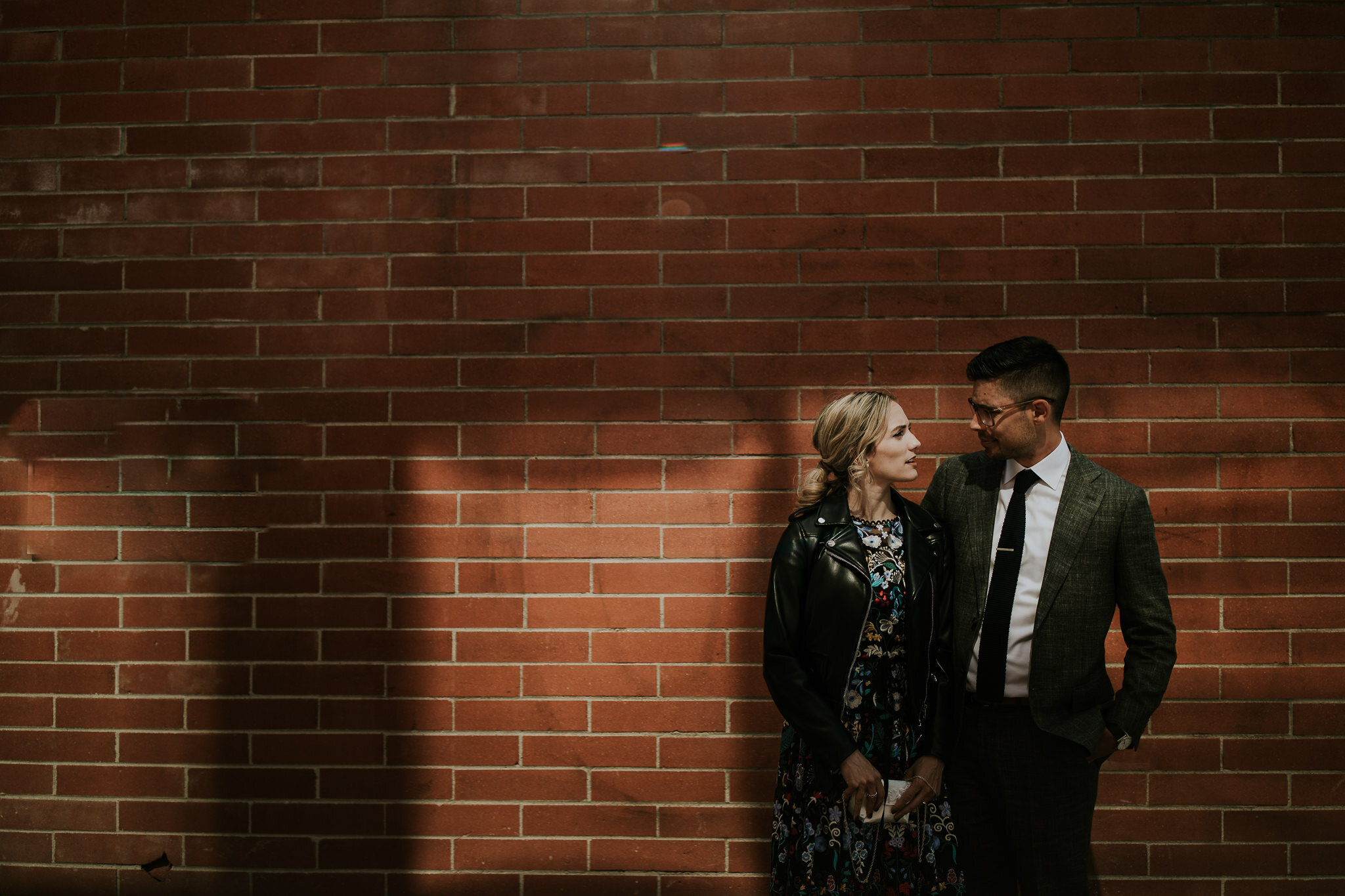 Urban wedding photos in downtown Calgary