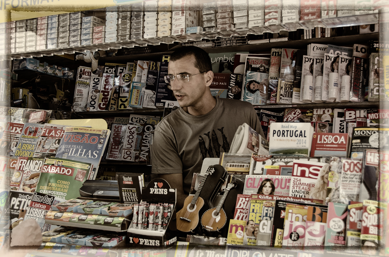 News Vendor, Lisbon