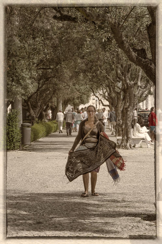 Shawl Vendor at Jerónimos Monastery