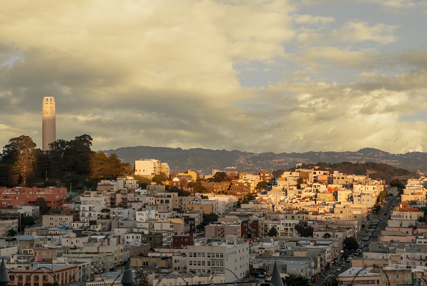 Coit Tower from Lombard Street