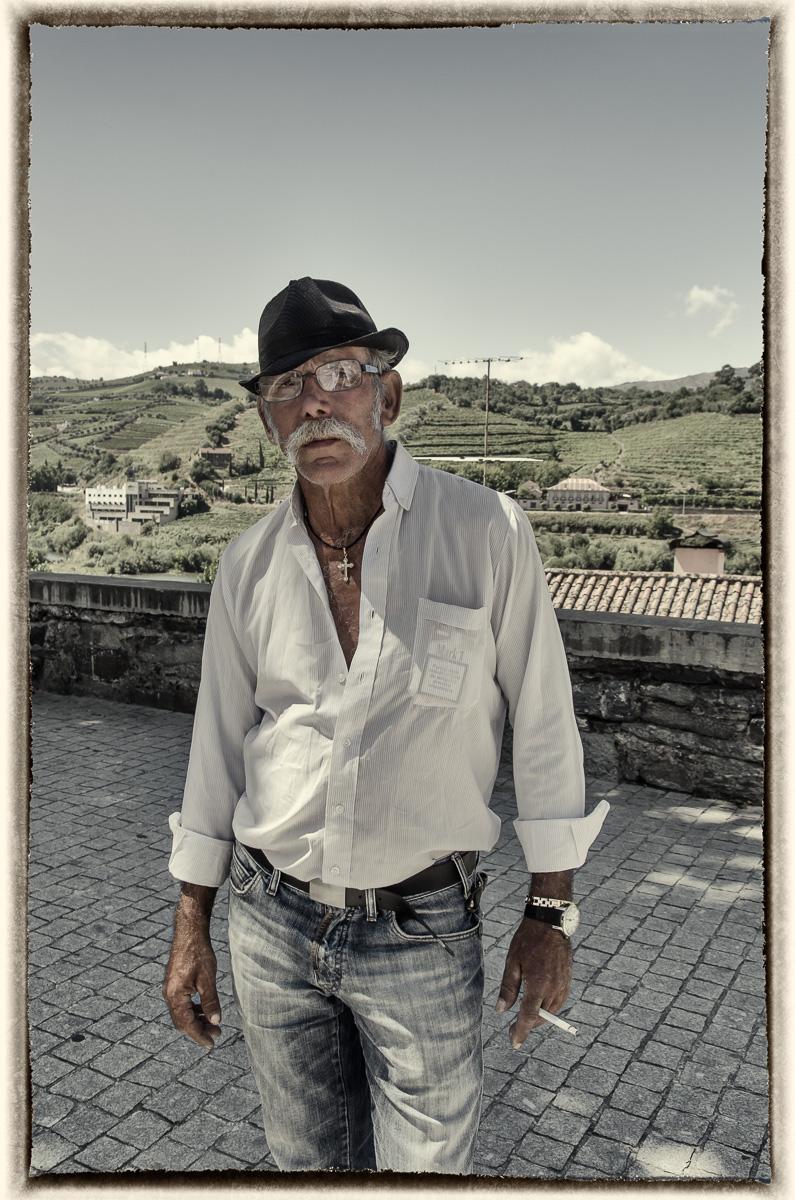 Régua Man with Moustache & Cigarette