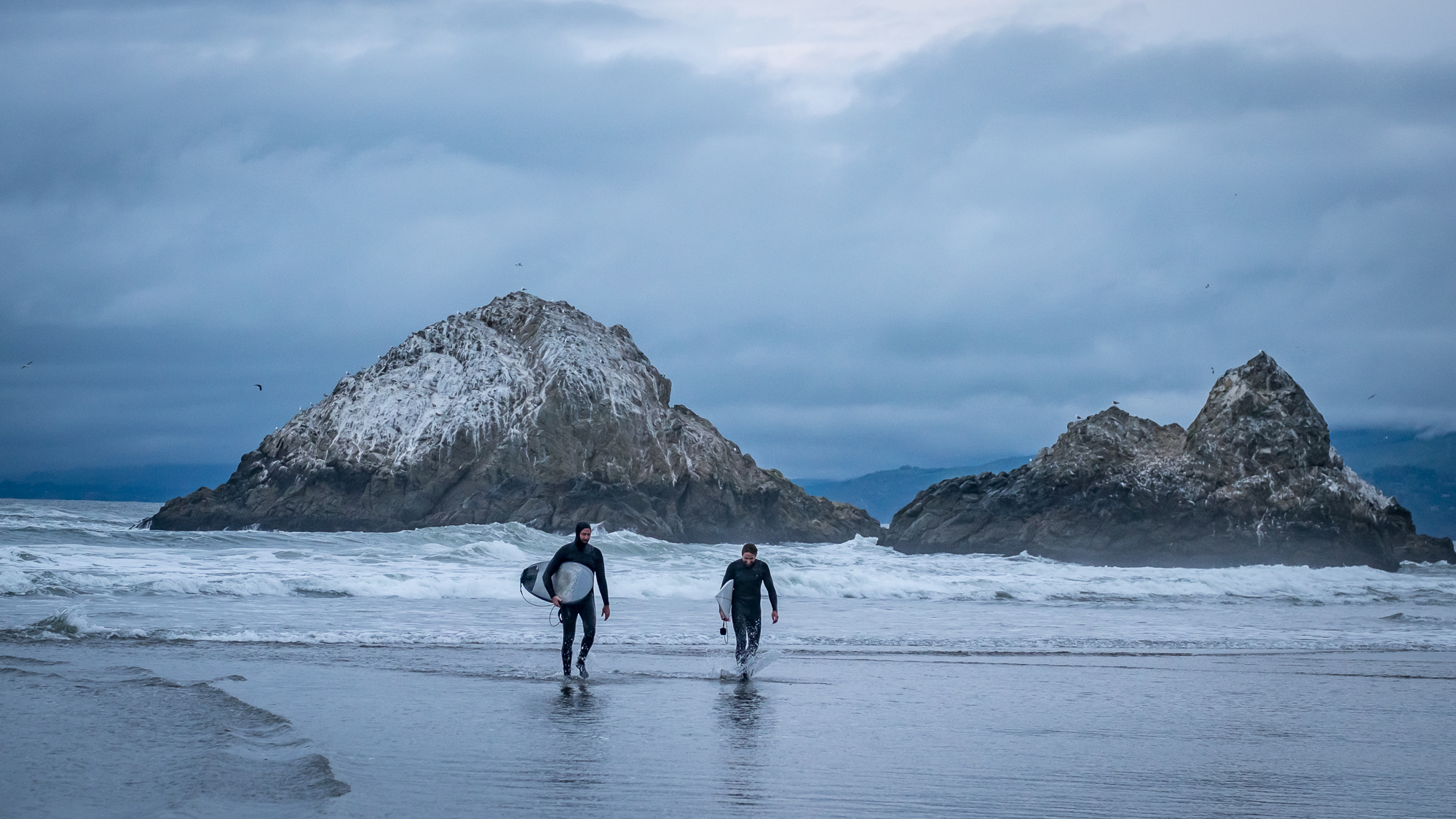 Surfers at Ocean Beach