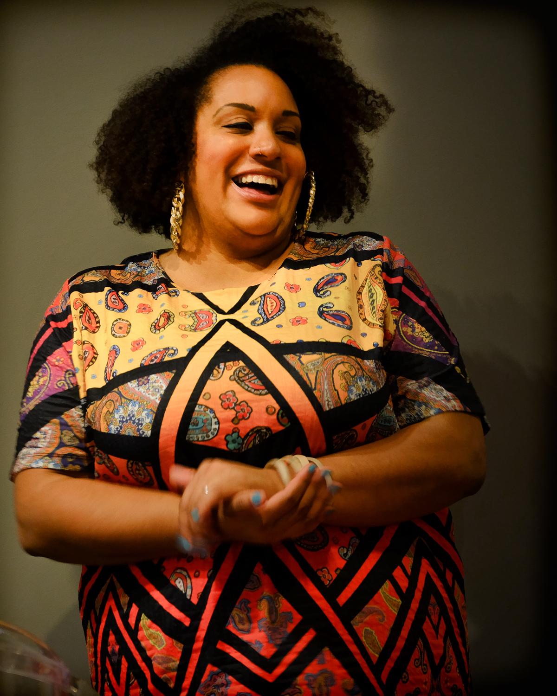 Marlene in Afro-Pattern Dress